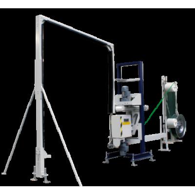 CYKLOP - XP 112 - Vertikálny páskovací automat paliet PET alebo PP páskou