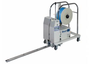 Páskovací stroj M-PAC PLT - Páskuje všetky druhy paliet PP páskou