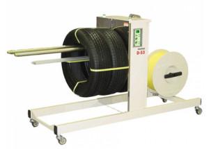 D53RS - páskovací poloautomat pre páskovanie kruhových predmetov